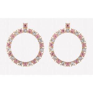 Bebe glam crystal hoop earrings